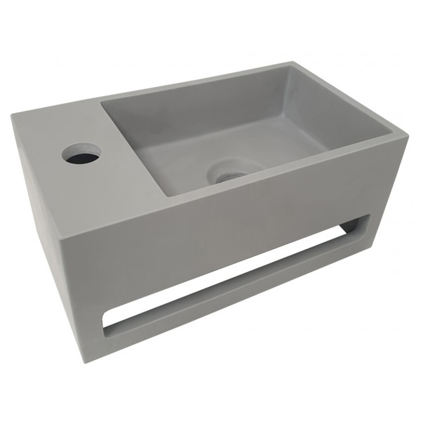 Wiesbaden Julia fontein Solid Surface 35 x 20 x 16 cm betonlook links