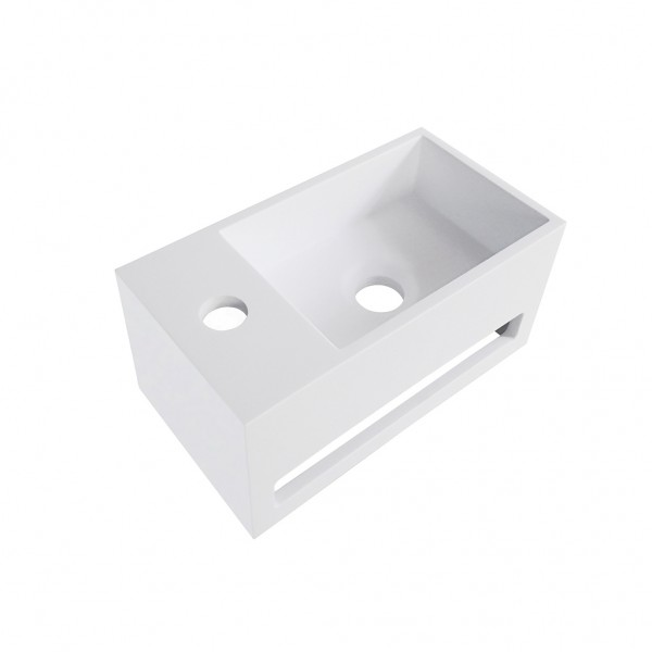 Wiesbaden Julia fontein Solid Surface 35 x 20 x 16 cm wit links